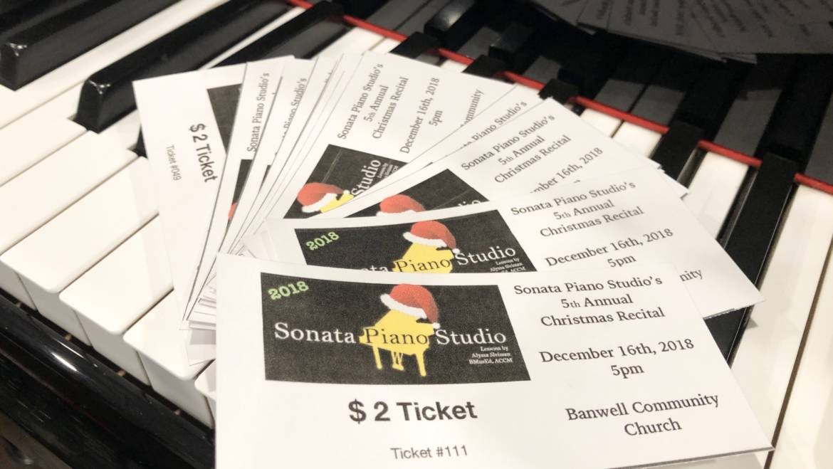 Why I Started Charging For Recital Tickets